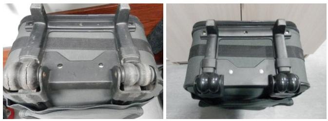ремонт задних колес чемодана