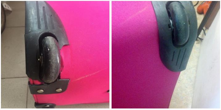 ремонт колес чемодана