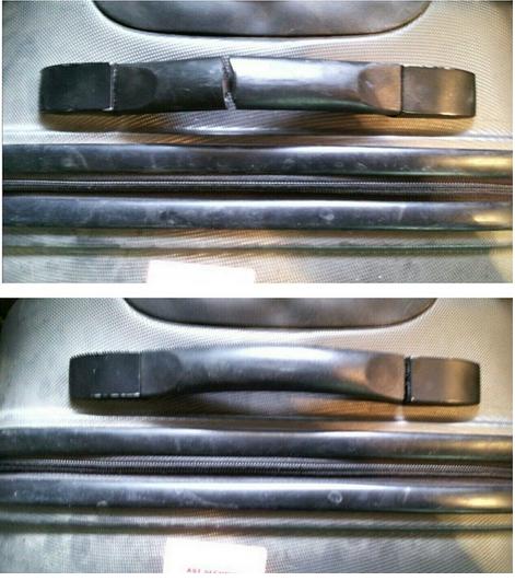 ремонт пластиковой ручки чемодана