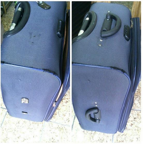 ремонт швов чемодана