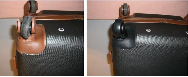ремонт подножки чемодана Dielle
