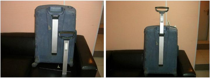 до и после ремонта телескопической ручки чемодана