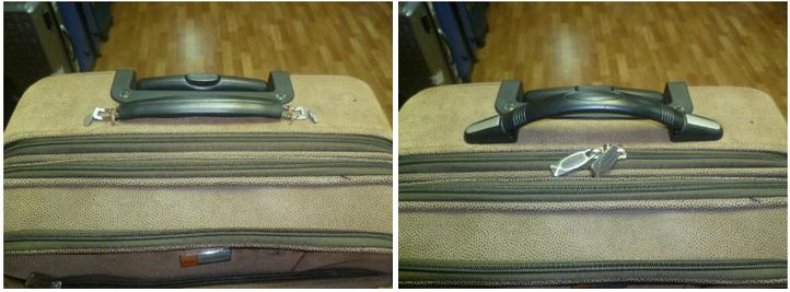 замена сломанной молнии чемодана Dielle