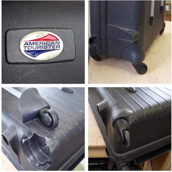 до и после ремонта чемодана Dielle