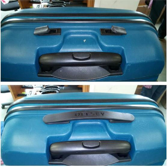 ремонт ручки чемодана Delsey