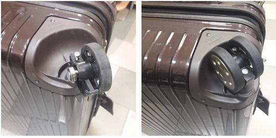 ремонт колесиков чемодана Heys