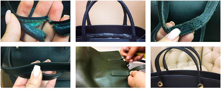 фото до и после ремонта сумки в мастерской